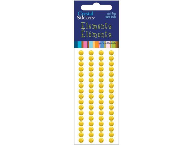 Crystal Stickers Elements 5mm Round 68/Pkg-Yellow