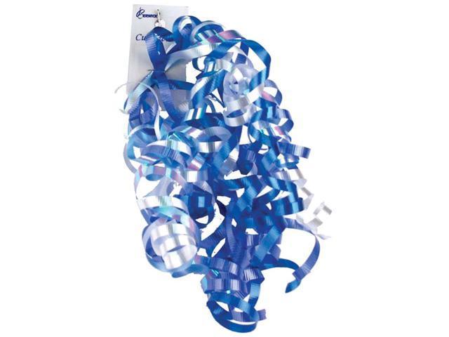 Curl Swirls -Blue & White Iridescent