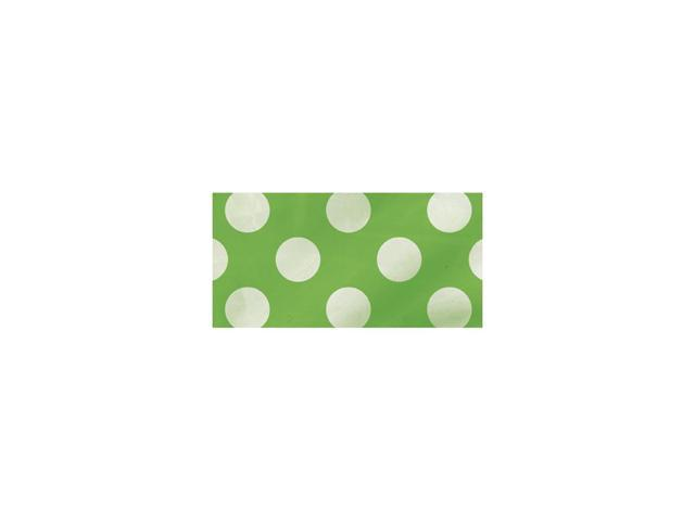 Flag Banner 12 Feet-Lime Green Decorative Dots
