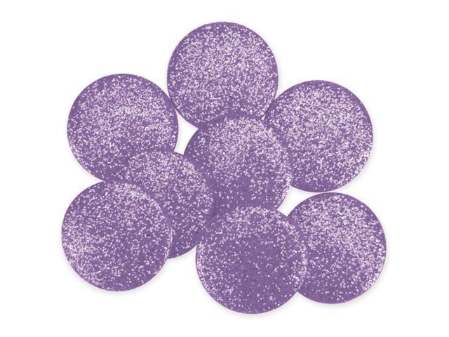 Dress It Up Big Glitter Dots 19mm 8/Pkg-Light Purple