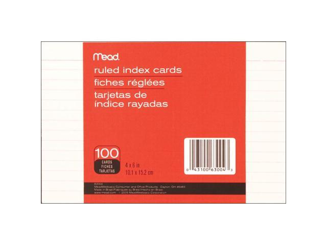 Mead Index Cards 4