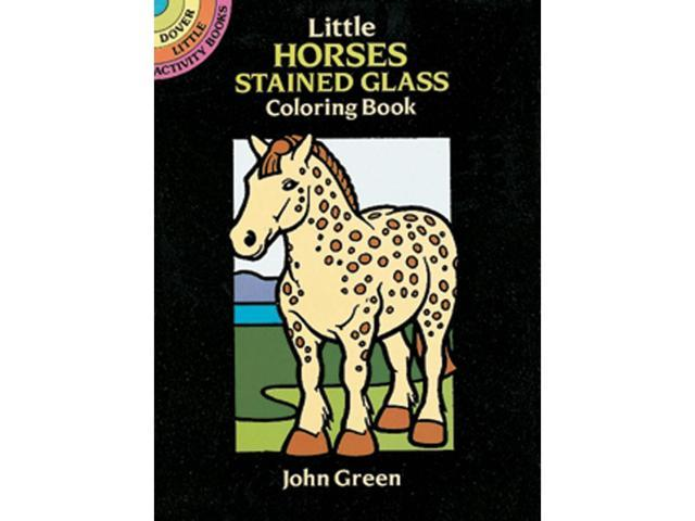 Dover Publications-Little Horses Stained Glass Clr Bk