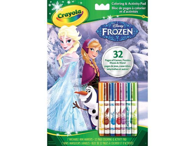 Crayola Coloring & Activity Pad W/Markers-Disney Frozen