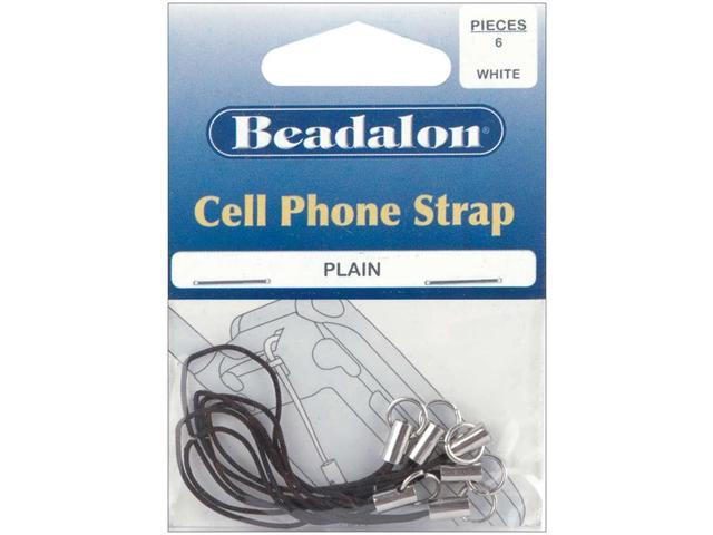 Cell Phone Straps 6/Pkg-Black