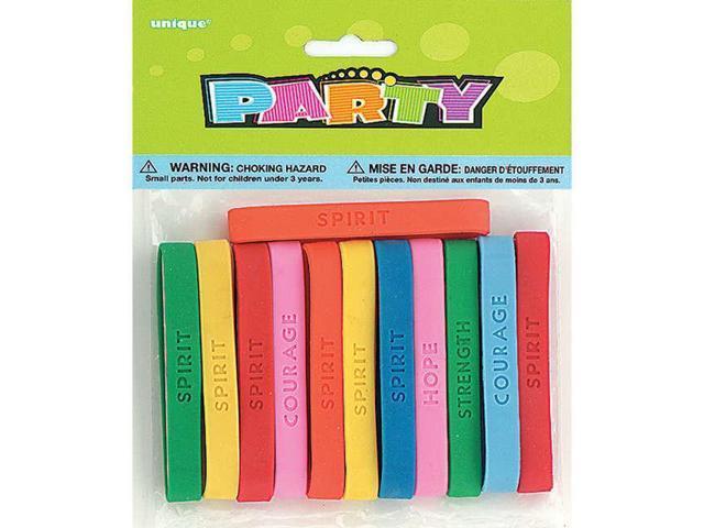 Party Favors 12/Pkg-Spirit Bracelets