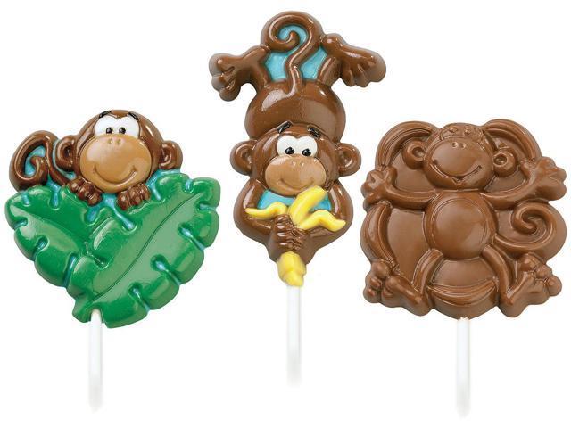 Wilton MONKEY LOLLIPOP MOLD Candy Melt Chocolate Treat