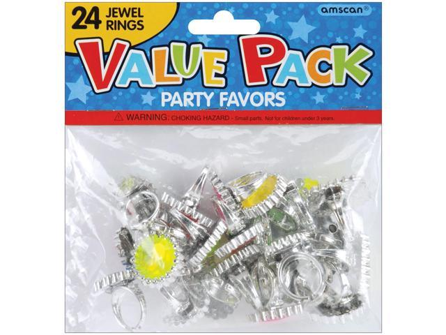 Party Favors 18/Pkg-Jewel Rings
