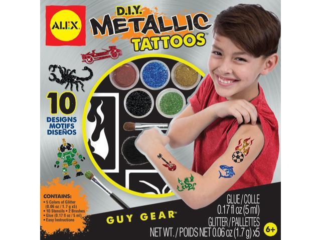 Diy Metallic Tattoos Kit-