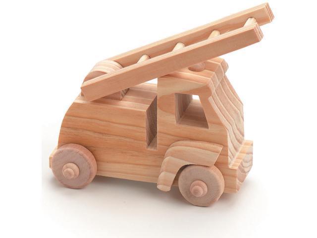 Wood Model Kit-Fire Truck 4