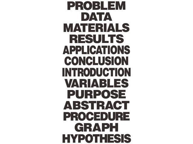 Science Fair Titles 13/Pkg-Black