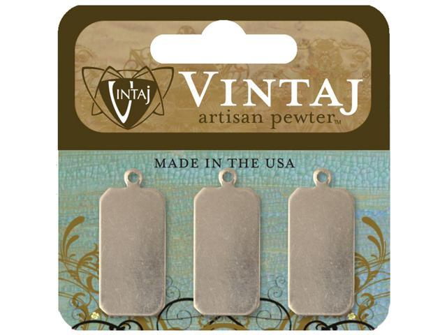 Vintaj Metal Accents-Classic Tags 22mmX11mm 3/Pkg