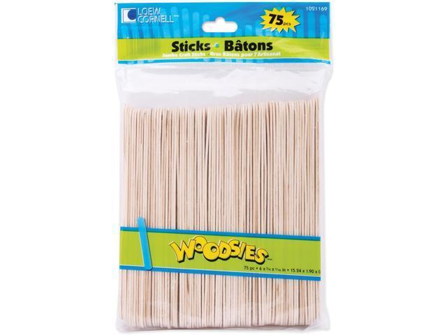 Woodsies Jumbo Craft Sticks-Natural 6