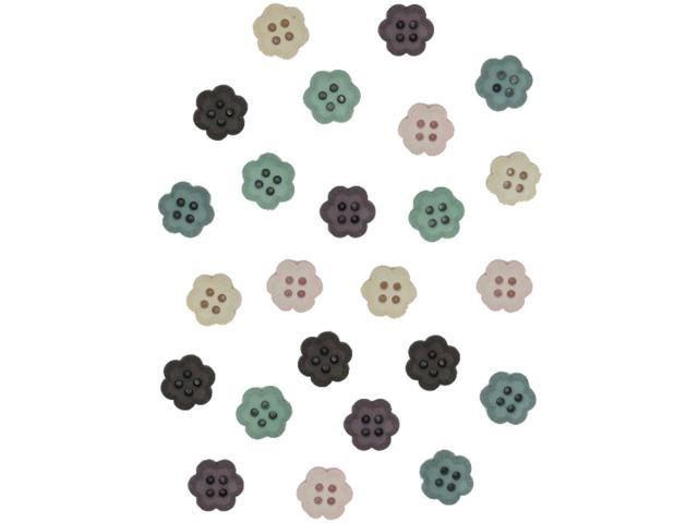 Dress It Up Embellishments-Flower Buttons - Handful Of Happiness