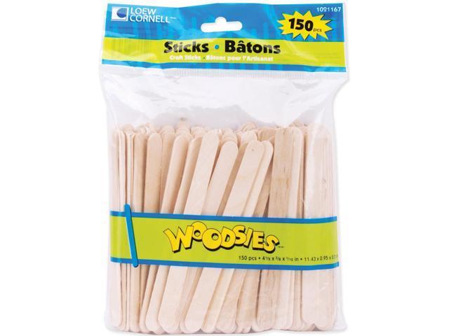 Woodsies Craft Sticks-Natural 4.5