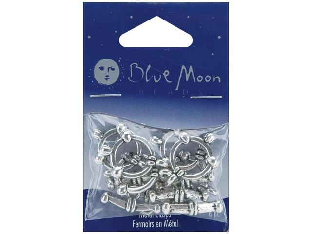 Blue Moon Plated Metal Toggle Clasps-Ball Silver 2/Pkg