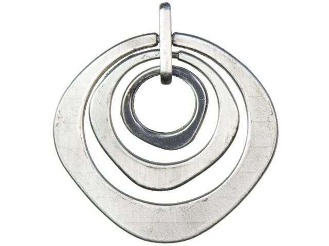 Jewelry Basics Metal Accent 1/Pkg-Silver Ringed Circle