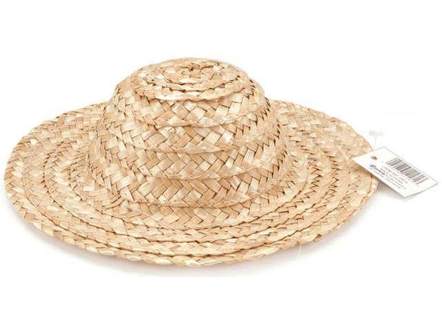 Round Top Straw Hat 12