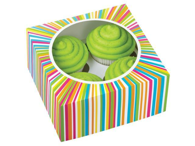 Cupcake Box 4 Cavity 3/Pkg-Colorwheel