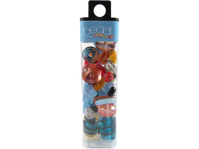 Square Tube Glass Beads 2oz-Fun Mix