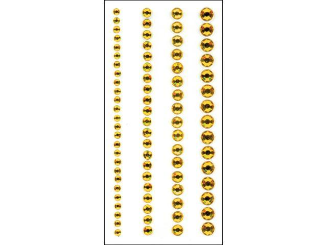 Crystal Stickers Elements 3mm To 6mm Assorted 76/Pkg-Round - Yellow