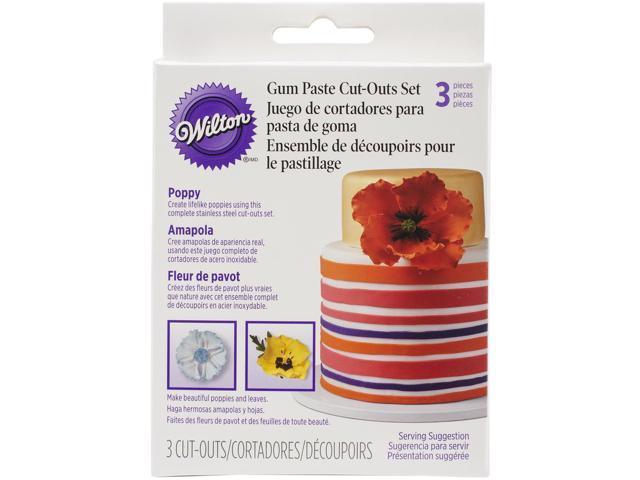 Gum Paste Cutouts 3/Pkg-Poppy