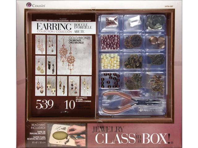 Jewelry Basics Class In A Box Kit-Gold & Copper Earrings
