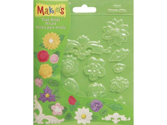 Makin's Clay Push Molds-Floral