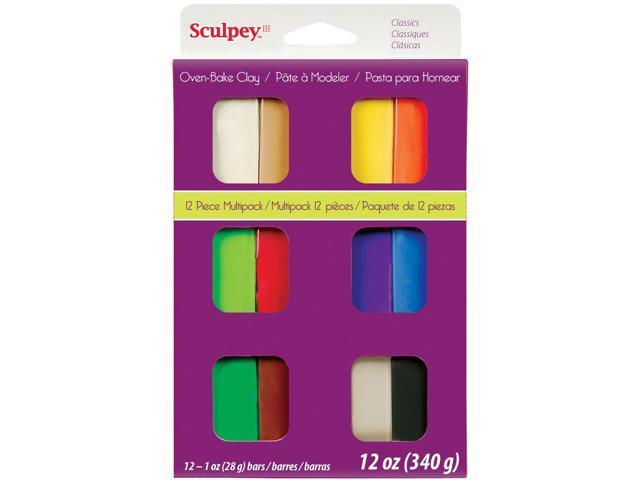 Sculpey III Polymer Clay Multipack 1oz 12/Pkg-Classics