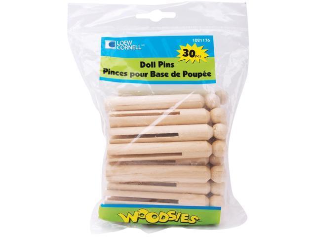Woodsies Doll Pins-Natural 3.75