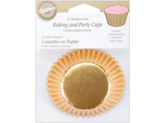 New Wilton GOLD FOIL Standard BAKING CUPS Cupcake Party