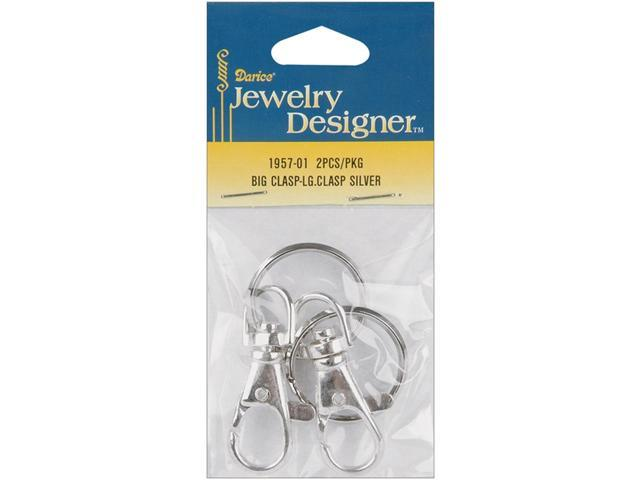 Silver Metal Findings-Large Clasps 2/Pkg