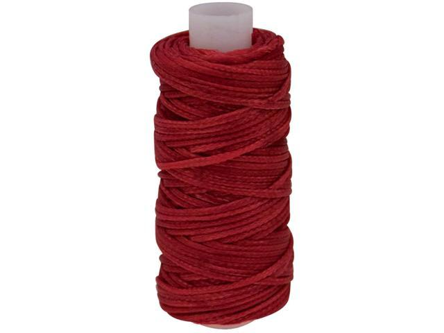Waxed Braided Cord 25yd-Red