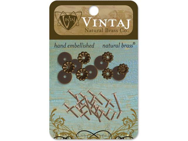 Vintaj Metal Washers-Decorative 3mm To 6mm 36/Pkg