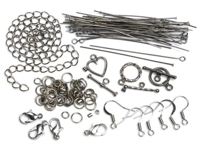 Jewelry Basics Metal Findings 145/Pkg-Gunmetal Starter Pack