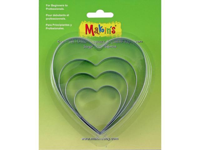 Makin's Clay Cutters 4/Pkg-Heart