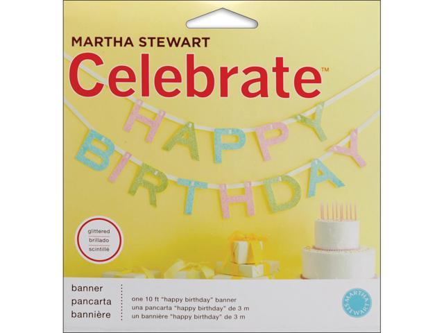 Glittered Garland 10'-Happy Birthday