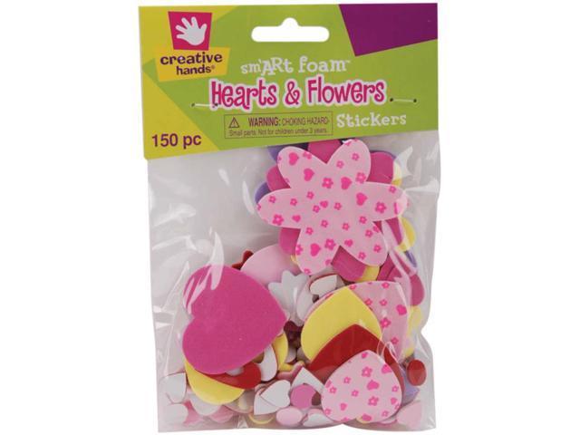 Foam Stickers 150/Pkg-Hearts & Flowers