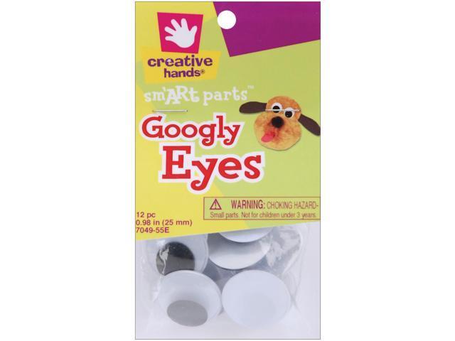 Glue-On Googly Eyes 25mm 12/Pkg-Black