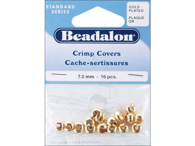 Gold-Plated Crimp Covers-7mm 16/Pkg