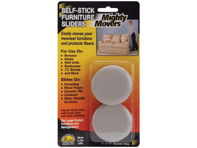 Mighty Movers Self-Stick Furniture Sliders-2.25