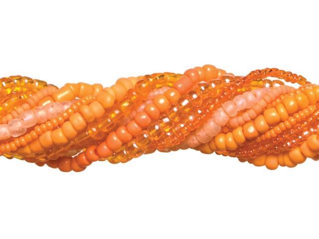 Jewelry Basics Glass Seed Bead Mix 90g-Orange