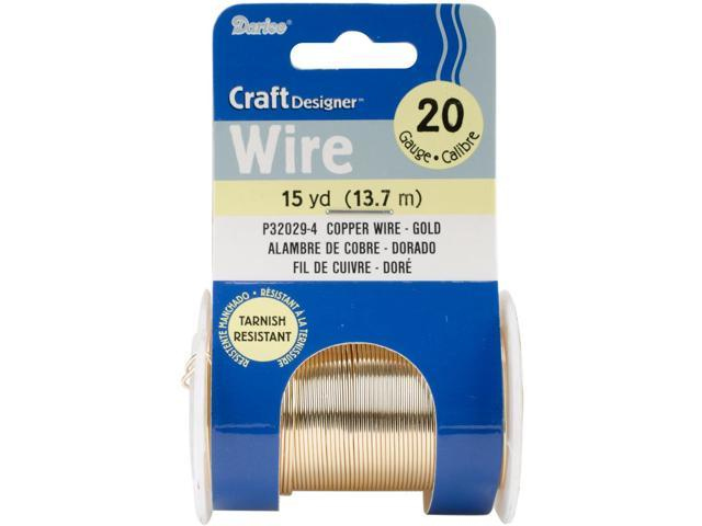 20 Gauge Beading Wire 15 Yards-Gold Colored Copper Wire