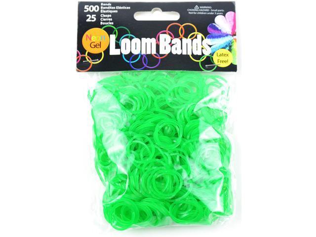 Gel Loom Bands 500/Pkg W/25 Clasps-Green