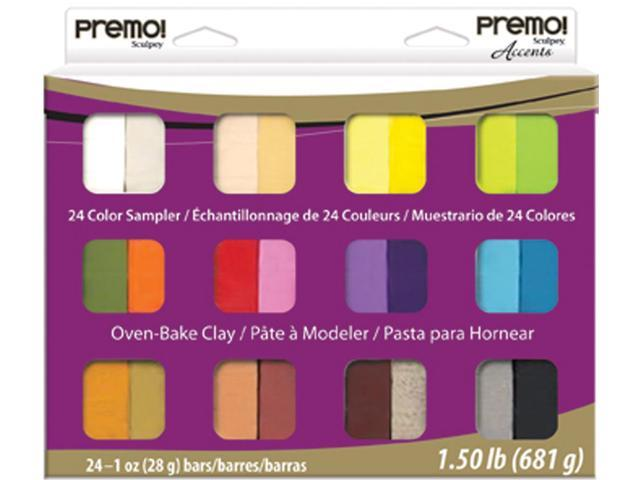 Premo Sculpey Accents Polymer Clay Multipack 1oz 24/Pkg-Assorted Colors