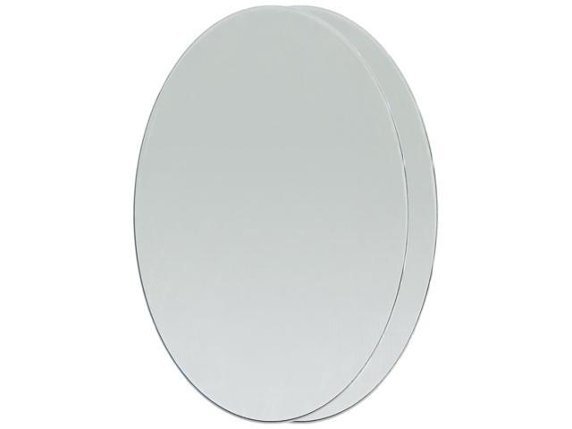 Oval Glass Mirrors 2/Pkg-3