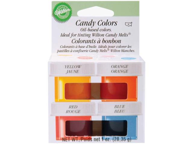 Candy Colors 1/4 Ounce 4/Pkg-Yellow/Orange/Red/Blue