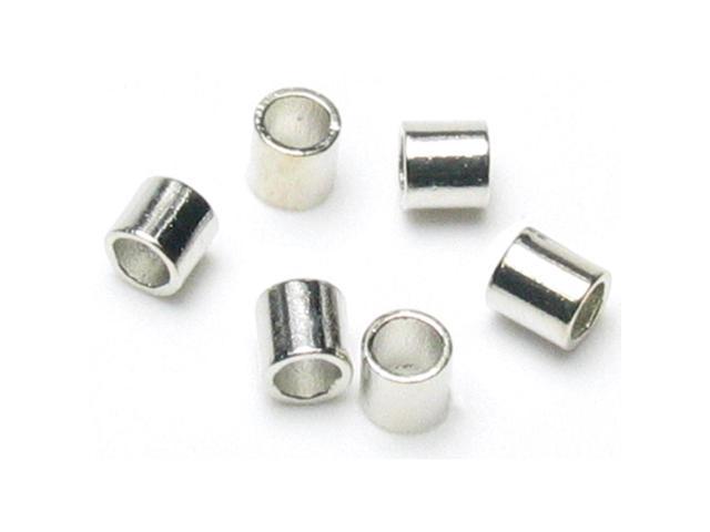 Jewelry Basics Metal Findings 500/Pkg-Silver Crimp Tubes 2mm