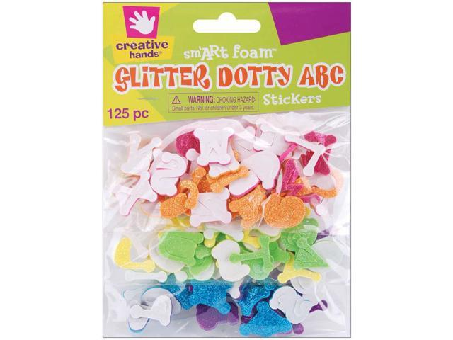 Foam Glitter Stickers 125/Pkg-Dotty ABC