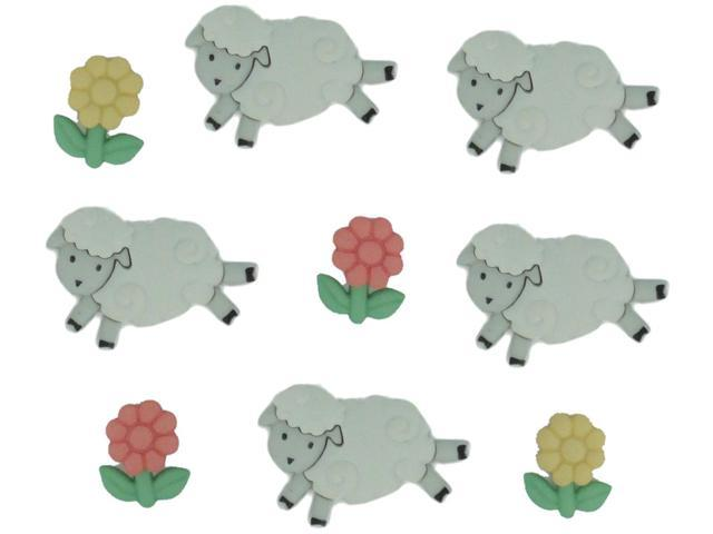 Dress It Up Embellishments-Counting Sheep