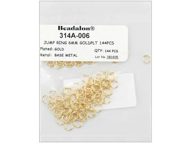 Jump Rings 6mm 144/Pkg-Gold-Plated